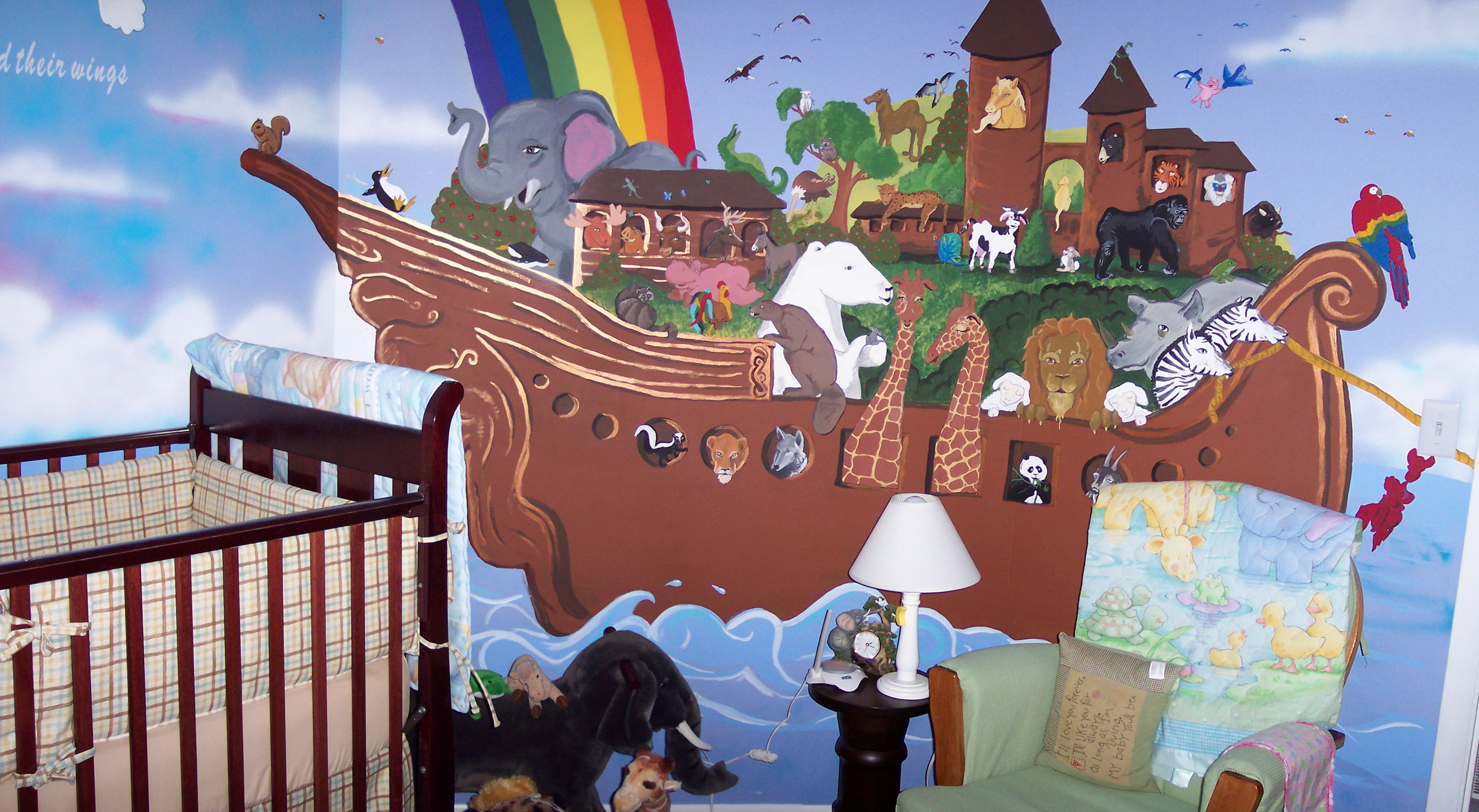 Noahs ark wall stickers choice image home wall decoration ideas wednesday writer mikey brooks tanya parker mills ark painting and heres his noahs ark wall amipublicfo amipublicfo Gallery