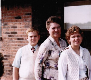 Sean, Mom, Karen 1983 or 1984